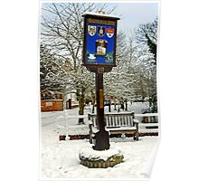 Rolleston on Dove, Village Sign Poster