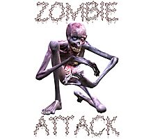 Zombie Attack Photographic Print