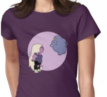 Two Sassy Purple Aliens Face Off Womens Fitted T-Shirt