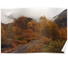 Autumn colours in Glen Nevis. Poster