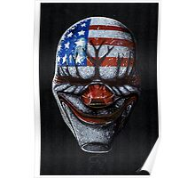 Payday 2 Dallas mask Poster