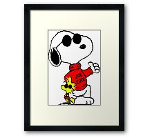 Snoopy and Woodstock Joe Cool Framed Print
