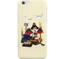The Witch, The Cat and The Ghosts  iPhone Case/Skin