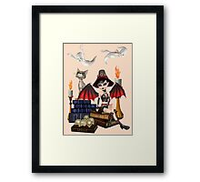 The Witch, The Cat and The Ghosts  Framed Print
