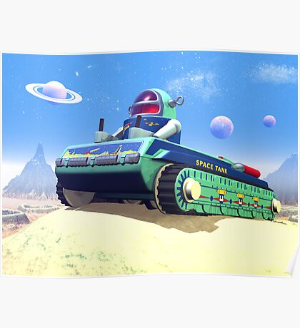 Toy Space Tank Poster