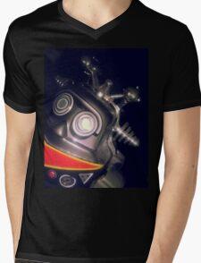 Retro Toy Robot Mens V-Neck T-Shirt