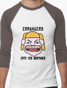 Ermahgerd herper berthder geek funny nerd Men's Baseball ¾ T-Shirt
