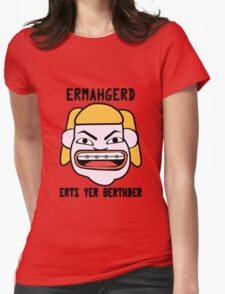 Ermahgerd herper berthder geek funny nerd Womens Fitted T-Shirt