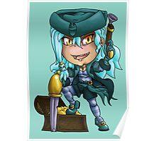 Pirate Girl Chibi Poster