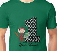 First birthday boy pirate geek funny nerd Unisex T-Shirt