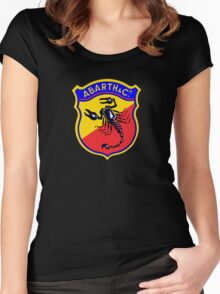 Classic Car Logos: Abarth & C. Women's Fitted Scoop T-Shirt