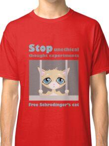 Free schrodingers cat geek funny nerd Classic T-Shirt