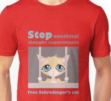 Free schrodingers cat geek funny nerd Unisex T-Shirt