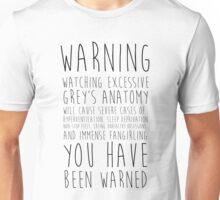 WARNING: Grey's Anatomy Unisex T-Shirt