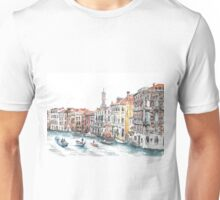 Venice Canals Watercolour Unisex T-Shirt