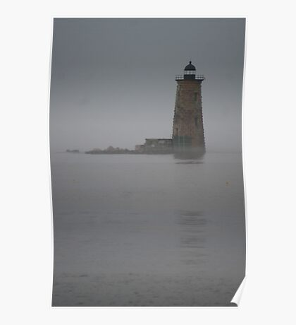 Out of the Mist - Lighthouse, Portsmouth, NH Poster