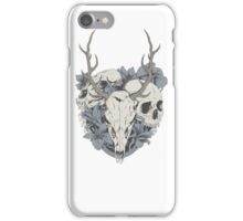 Skulls & flowers iPhone Case/Skin