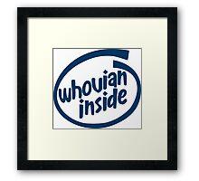 Whovian Inside Framed Print