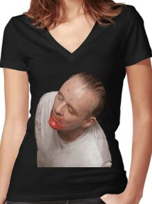 Hannibal Lecter Women's Fitted V-Neck T-Shirt