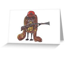 The rabbitish hunter Greeting Card