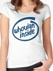 Whovian Inside Women's Fitted Scoop T-Shirt