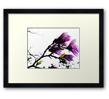Purple Bower Framed Print