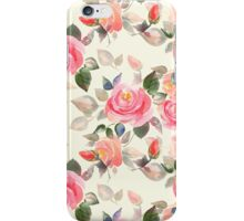 Pattern with roses iPhone Case/Skin
