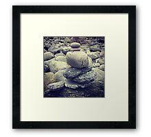 Leave no stone unturned Framed Print