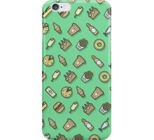 Food pattern vector iPhone Case/Skin