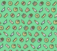 Food pattern vector by kulistov