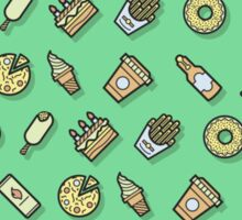 Food pattern vector Sticker
