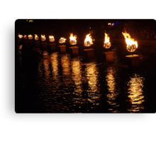Waterfire Canvas Print