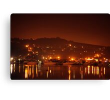 Midnight on the Medway  Canvas Print