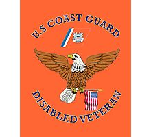 US Coast Guard Disabled Veteran Eagle Shield Photographic Print