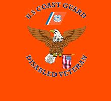 US Coast Guard Disabled Veteran Eagle Shield Unisex T-Shirt