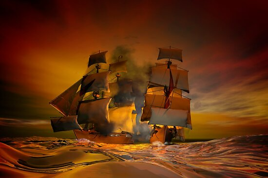 Pirate attack by Carol and Mike Werner