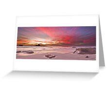 Magenta Sunset II Greeting Card