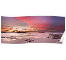 Magenta Sunset II Poster