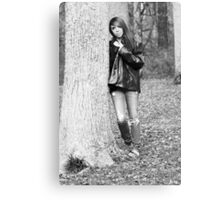Model Tiffany Black and White Version Canvas Print