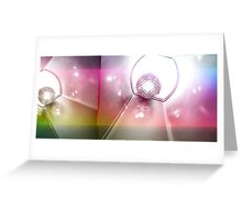 shiny disco balls Greeting Card