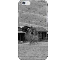 Bannack Ghost Town - Bachelors Row (Black & White) iPhone Case/Skin