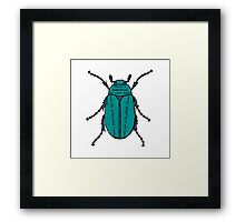 There's Something on Your Back. Framed Print