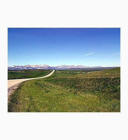 Long Lonely Road Photographic Print