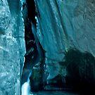 Main waterfall inside of the mountain by Ann Reece