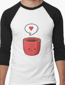 Cute Mug Men's Baseball ¾ T-Shirt