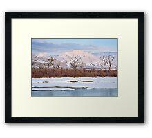 Split Mountain Evening Framed Print