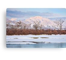 Split Mountain Evening Canvas Print