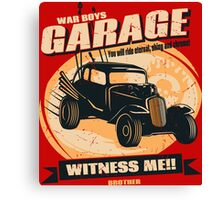 Warboys Garage! Canvas Print