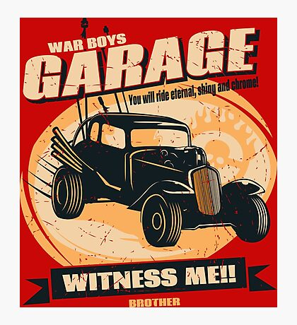 Warboys Garage! Photographic Print