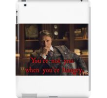 Hannibal - clever slogan  iPad Case/Skin